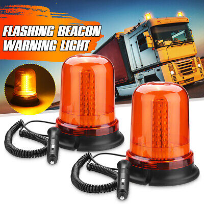 2X Car Roof Light Magnetic Mount LED Warning Strobe Flashing Beacon Lamp AU