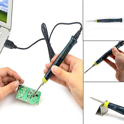 Mini Portable USB 5V 8W Electric Powered Soldering Iron Pen Gun Tip Touch Switch