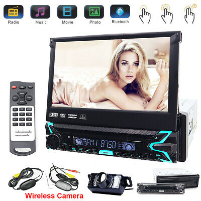 "1Din 7"" Car Stereo CD/DVD Player Bluetooth Audio Video Stereo GPS iPod Map AUX"