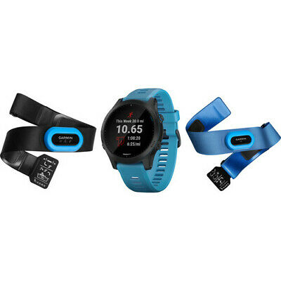 Garmin Forerunner 945 GPS Wrist-based Heart Rate Sport Watch - Blue Tri Bundle
