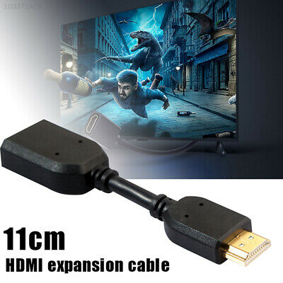 F621 Flexible HDMI Male To Female Lead Cable 11cm Extender Connector High Speed