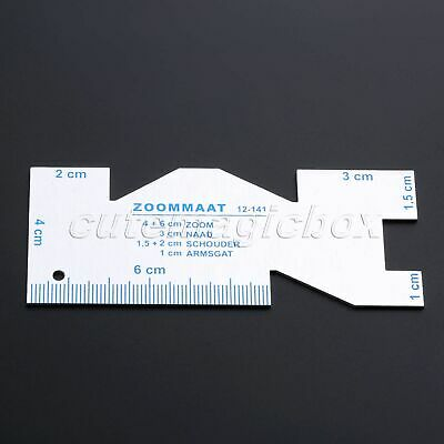 Durable Metal Ruler DIY Sewing Patchwork Double Side for Apparel Sewing 9.8x4cm