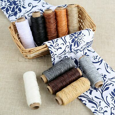 10 Roll 150D Flat Sew Wax Lines Fiber Thread Handmade Leather Sewing Accessories