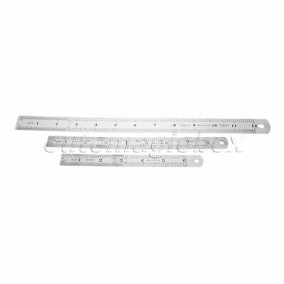 Metal Straight Ruler Precision Scale Stainless Steel Measuring Tool Double Sided
