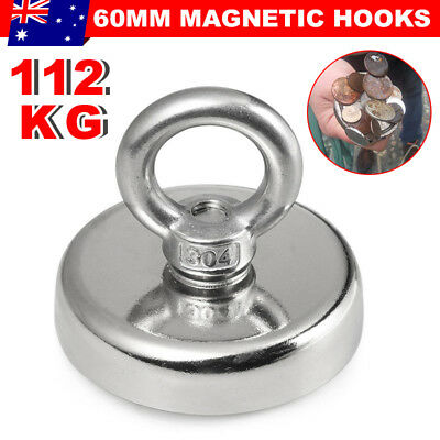 112Kg Salvage Strong Recovery Magnet Neodymium Hook Treasure Fishing Hunting JD