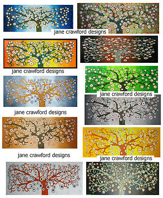 Artwork Tree flower Abstract Painting By Jane landscape modern contemporary