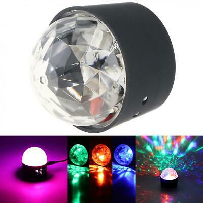 Mini USB LED RGB Disco DJ Ball Strobe Light Effect Party Birthday Stage Car Lamp