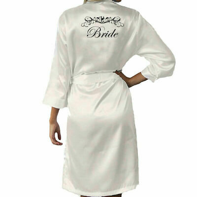 Bride Bridesmaid Gown Satin Robes Personalised of Mother Maid Robe Wedding