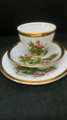 Vintage Art Deco Phoenix Bone China Tea Cup Saucer And Plate Made In England