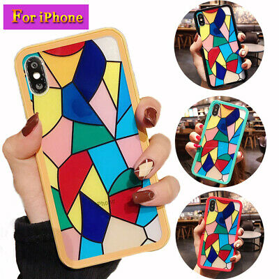 Hybrid 360 Protective Shockproof Rainbow Tempered Glass Case Cover For iPhone XR