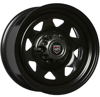 Extreme Sunraysia 17X8 6/139.7 45P D-Hole Black Steel Wheel Ford Ranger Everest
