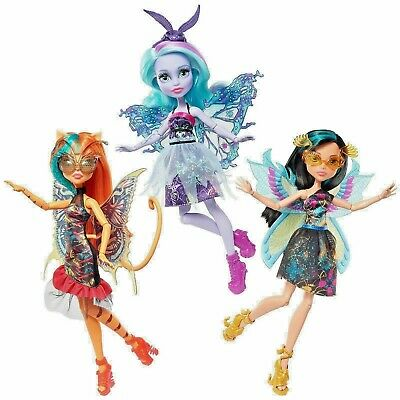 NEW OFFICIAL MONSTER HIGH DOLLS - Garden Ghouls Wings CLEO TORALEI TWYLA - NRFB