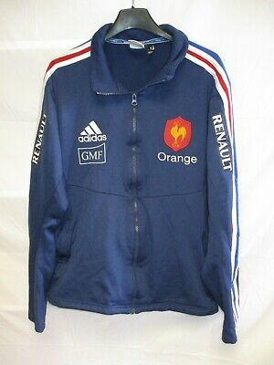 Veste rugby QUINZE de FRANCE porté ADIDAS training collection FFR sponsors PRO
