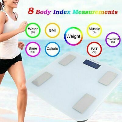 Family Body Scale Fat Smart Digital BMI Bathroom Weighing LCD 400lb/180kg BT