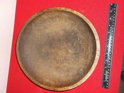 Antique(original) c1800s- Large Hand Made Turned Wooden Bowl-Great!