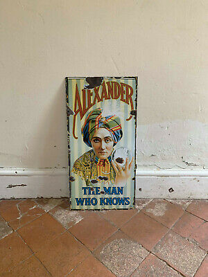 alexander the great Large 24x12inch Reproduction VINTAGE ENAMEL METAL TIN SIGN