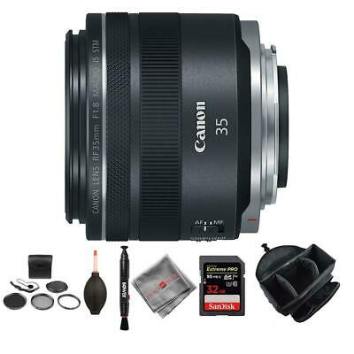Canon RF 35mm f/1.8 IS Macro STM Lens, SD Card and Bag