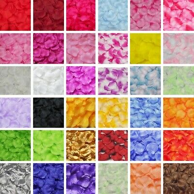 500pcs Silk Rose Flower Petals Wedding Valentine's Day Party Confetti Decoration