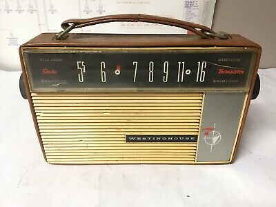 Vintage Westinghouse Transistor Radio For Parts Or Repair
