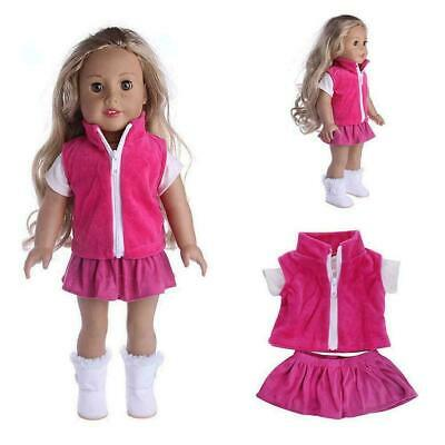 Doll Clothes Dress Outfit Clothes Set For 18'' Doll Girl Our Generation Dol J7H7