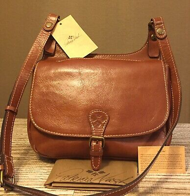 BRAND NEW AUTHENTIC PATRICIA NASH Heritage London Leather Saddle Bag/Crossbody