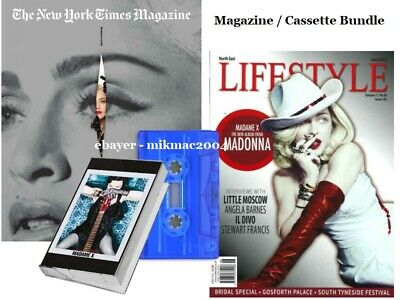 MADONNA Lifestyle UK + New York Times US Magazines + Madame X Blue Cassette New