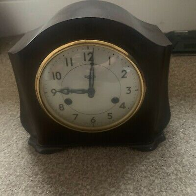 "SMITHS ENFIELD STRIKING ""Art Deco"" BAKELITE MANTLE CLOCK"