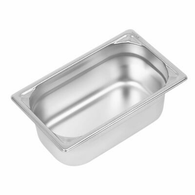 Vogue Heavy Duty Stainless Steel 1/4 Gastronorm Pan 100mm [DW447]