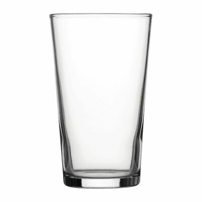 Utopia Nucleated Toughened Conical Beer Glasses 280ml CE Marked (Set of 48) [DY2