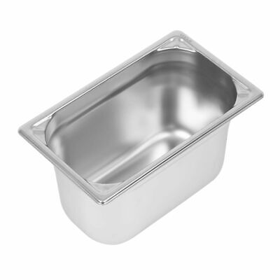 Vogue Heavy Duty Stainless Steel 1/4 Gastronorm Pan 150mm [DW448]