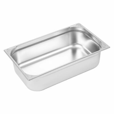 Vogue Heavy Duty Stainless Steel 1/1 Gastronorm Pan 150mm [DW435]