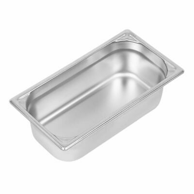 Vogue Heavy Duty Stainless Steel 1/3 Gastronorm Pan 100mm [DW443]