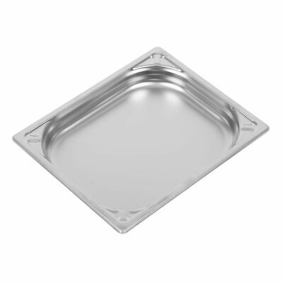 Vogue Heavy Duty Stainless Steel 1/2 Gastronorm Pan 40mm [DW437]