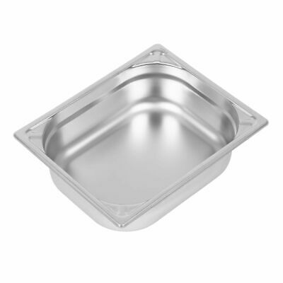 Vogue Heavy Duty Stainless Steel 1/2 Gastronorm Pan 100mm [DW439]