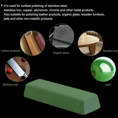 1PC Abrasive Buffing Polishing Soap Compound Paste Wax Bar Metal Brass Gree Z1H9