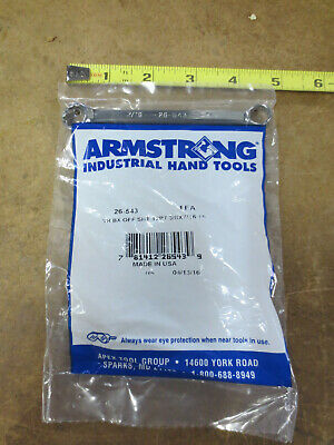 Armstrong 26-543 12-Point Short Box Wrench 15D Offset 3/8 x 7/16