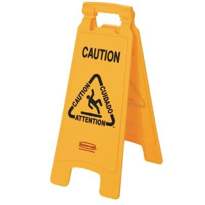 Rubbermaid Multilingual A Frame Wet Floor Safety Sign [GG991]