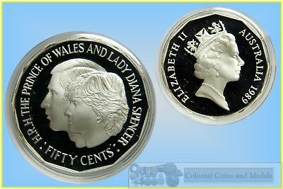 1989 50 cent SILVER JUBILEE STERLING SILVER PROOF coin.Only 24,999 made!Scarce!