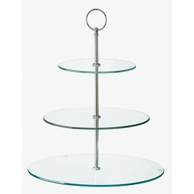 Glass Three Tiered Afternoon Tea Cake Stand [GL080]