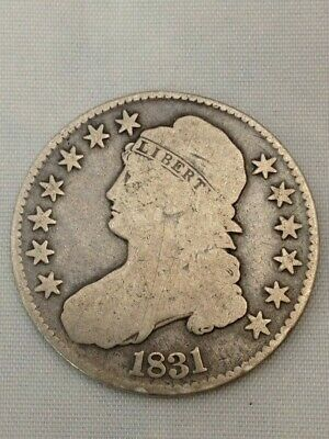 1831 Capped Bust Half Dollar .50c Silver Coin Circulated Collector Coin (Y104)