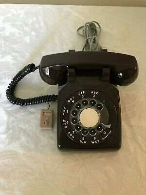 Vintage Bell System - Western Electric Brown Rotary Dial Desk Telephone