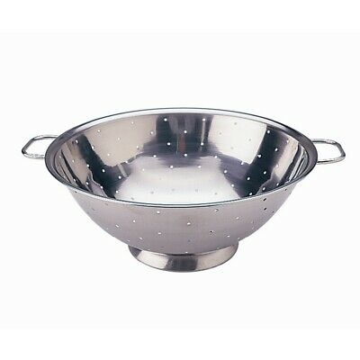 "Vogue Stainless Steel Colander 9"" [K331]"