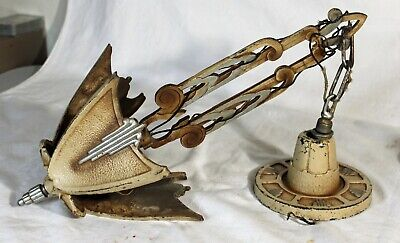 Vintage Art Deco ceiling electric Hanging 3 light Fixture Art Deco cast iron