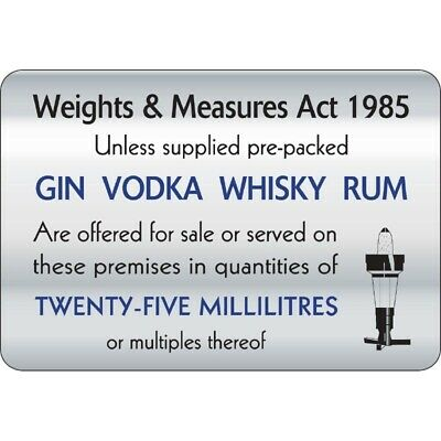 25ml Weights & Measures Act Sign [W317]
