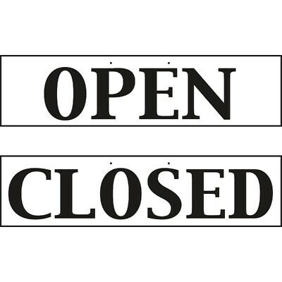 Reversible Hanging Open And Closed Sign [W212]