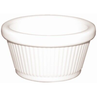 Kristallon Melamine Fluted Ramekins White 89mm (Set of 12) [T839]