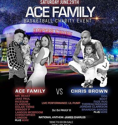 ACE Family Charity Basketball Event 6/29/19 Premier 5 Center Seating + Parking