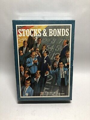 Vintage 1964 Stocks & Bonds 3M Bookshelf Board Game - New - 1964 Investment