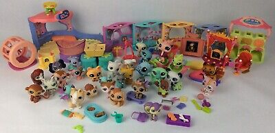 Littlest Pet Shop Lot Of Hasbro Pets Play Set Shops Accessories
