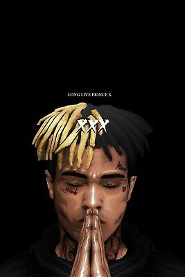 "XXXTentacion poster wall art home decor photo print 24"" x 36"""
